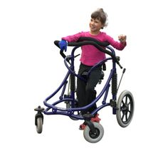 The Meywalk is a walking aid for people with mobility disabilities. The sprung frame and saddle mimics the biomechanical movement of your pelvis and helps you to get going in comfort.