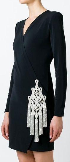 Balmain embellished wrap dress