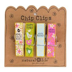 Our wooden chip clip sets are a fun addition to any kitchen or craft room!