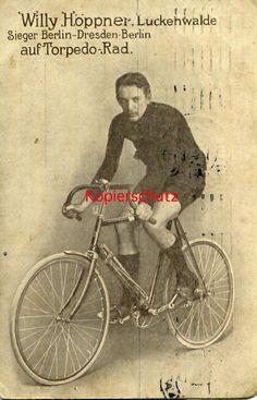 ca. 1910 * Willy Höppner Torpedo Radfahrer Radsport Wielrennen Luckenwalde   eBay