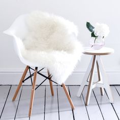 Super Soft Ivory Sheepskin Throw & Rug / Deep pile wool / The Alis Appartement Design Studio, Sheepskin Throw, California King Bedding, Hygge Home, Cool Chairs, New Room, Throw Rugs, Home Decor Accessories, Room Inspiration