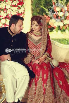 Pakistani bride and groom, not Indian
