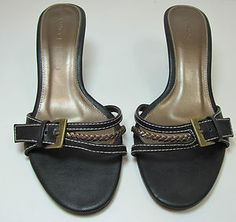 VINCCI BLACK BRONZE KITTEN HEEL MULES SLIP ON SHOES UK 5 EURO 38 R10941 http://stores.ebay.co.uk/Sangriasuzies-Emporium http://www.sangriasuzie.com/ If any of the  items pictured in this blog/pin take your fancy they can be bought from one of the above addresses.  Or email me at drobertshq@hotmail.com   if you need more info.