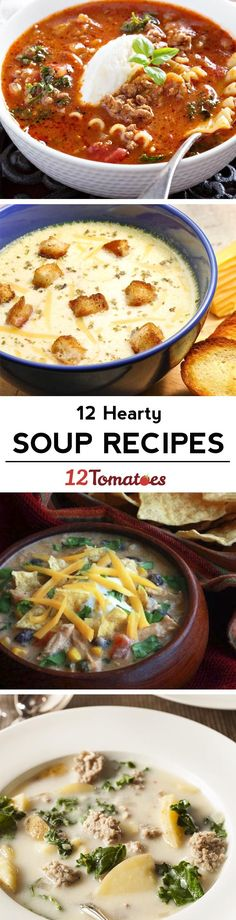 12 soup recipes to get you through the winter!