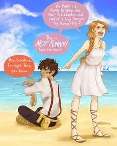Leo Valdez and Calypso(from the heroes of olympus not percy jackson and the olympians) Arte Percy Jackson, Dibujos Percy Jackson, Percy Jackson Memes, Percy Jackson Books, Percy Jackson Fandom, Percy Jackson Fan Art Funny, Percy Jackson Couples, Percy And Annabeth, Warrior Cats