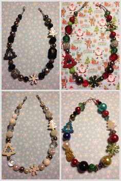 Handmade Christmas necklaces get urs now for all ur holiday outfits Christmas Necklace, Holiday Jewelry, Holiday Outfits, Handmade Christmas, Jewerly, Royalty, Handmade Jewelry, Fashion Jewelry, Corner