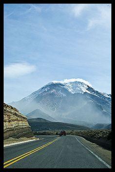 Chimborazo Volcano, Ecuador part of the Reserva de Produccion Faunistica Chimborazo, a protected nature reserve preserve the Andes habitat
