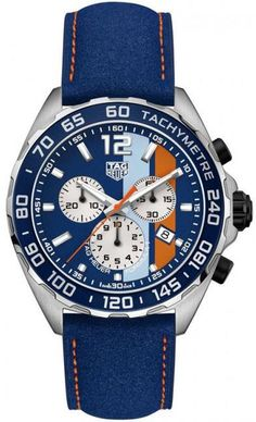 TAG Heuer Watch Formula 1 Chronograph Gulf Special Edition #add-content #basel-18 #bezel-fixed #bracelet-strap-leather #brand-tag-heuer #case-material-steel #case-width-43mm #chronograph-yes #cws-upload #date-yes #delivery-timescale-call-us #dial-colour-blue #gender-mens #luxury #movement-quartz-battery #new-product-yes #official-stockist-for-tag-heuer-watches #packaging-tag-heuer-watch-packaging #style-dress #subcat-formula-1 #supplier-model-no-caz101n-fc8243…