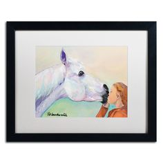 Opies Kiss by Pat Saunders-White Framed Painting Print