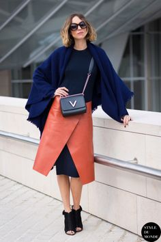How to Layer a Skirt Over Pants or a Dress   StyleCaster