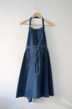 vintage denim apron dress