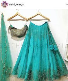 lovelyFor order DM us or whatsapp us on 6394837380 Half Saree Lehenga, Lehnga Dress, Lehenga Skirt, Lehenga Style, Sharara Designs, Lehenga Designs, Half Saree Designs, Blouse Designs, Indian Dresses