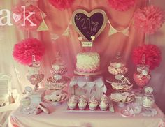 """Pink Princess / Baby Shower """"Nicole's Vintage Fairy Tale Pink Baby Shower""""   Catch My Party"""