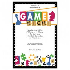 11 Best Game Night Invitations Images Game Night Board Games