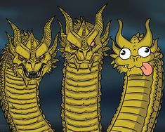 Three-Headed Dragon Template | Three-Headed Dragon | Know Your Meme