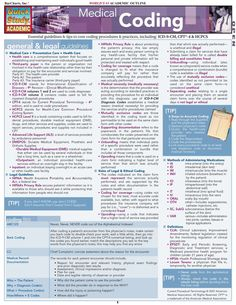 """Read """"Medical Coding"""" by BarCharts,Inc available from Rakuten Kobo. Essential guidelines and tips to core coding procedures and practices, including: & HCPCS. This guide in. Medical Coder, Medical Billing And Coding, Medical Careers, Medical Terminology, Medical Assistant, Medical Transcription, Medical Coding Classes, Lpn Classes, Office Assistant"""