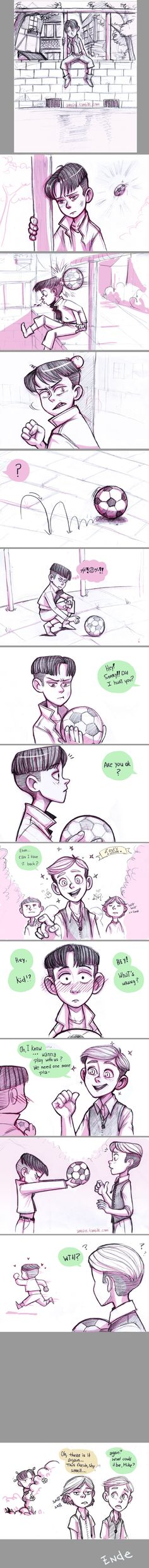Shy Levi by airefee.deviantart.com on @DeviantArt << LITTLE LEVI YOUR TOO CUTE!! T-T
