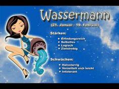 Sternzeichen Wassermann - Ihr Charakter wird hier treffsicher beschrieben - oder ? - YouTube