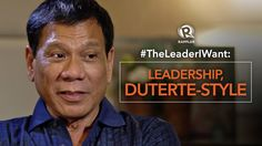 Is the Philippines ready for the kind of leadership Davao City Mayor Rodrigo Duterte is known for? Watch this full interview with Rappler's Maria Ressa: http. Rodrigo Duterte, New Politics, Good To Know, Philippines, Leadership, Things I Want, Spinning, News, Style