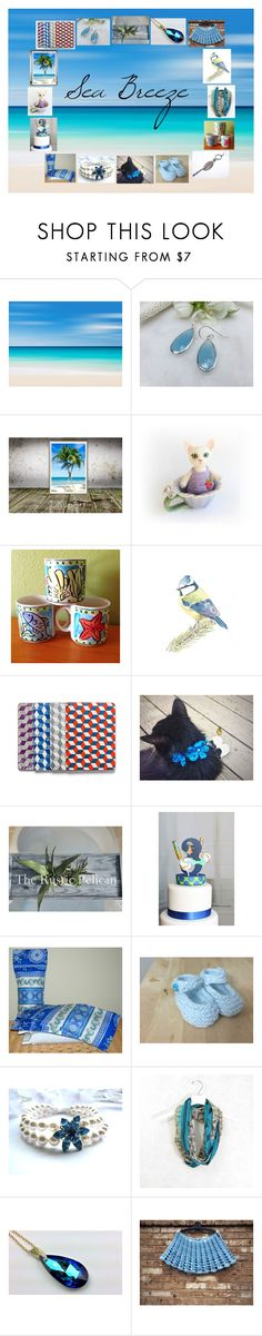 """Sea Breeze: Handmade Gifts in Blue"" by paulinemcewen ❤ liked on Polyvore featuring Sango, rustic and vintage"