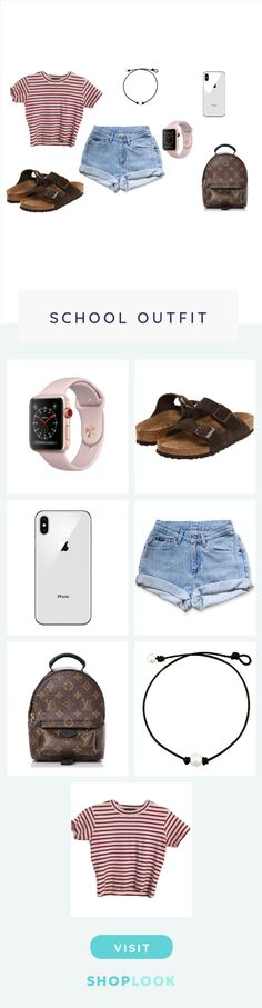 back to school outfit created on ShopLook.io featuring , birkenstock, , , , , perfect for School.