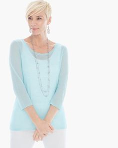 Light Textured Nina Pullover