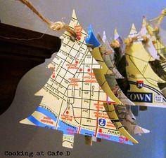DIY Christmas Tree Travel Map Garland