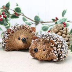 Glittery Twig Hedgehog Ornament - christmas home accessories