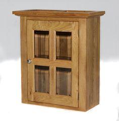 304 - Roomy glazed wall cupboard