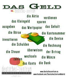 Das Geld  Deutsch Wortschatz Grammatik German DAF Vocabulario Alemán