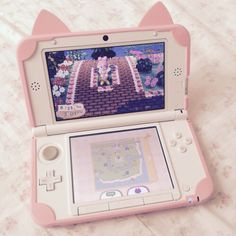 My fave thing about this is the case it's so kawaii Animal Crossing, Mode Kawaii, Otaku Room, Kawaii Room, Game Room Design, Gamer Room, Pink Aesthetic, Pastel Pink, Nerd