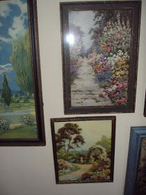 Here is my final glimpse of my Art Deco garden prints I have at home. Will try to be brief and let you just enjoy the pictures. here goes: ...