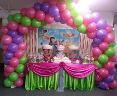 Tinkerbell themed birthday. This was done for a one year-old but can be done for any age.