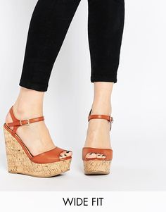 07efe895188f3b ASOS TWIRL Wide Fit Wedges at asos.com. Chaussures FemmeTalonsBottesModeBronzage  ...