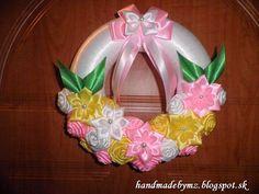 Handmade by Mirka&Zuzka: Venček na dvere (wreath for doors ) Kanzashi flowers