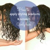 How to apply products and scrunch curly hair