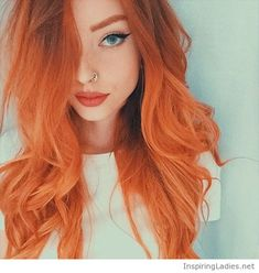 Orange hair color and green eyes | Inspiring Ladies