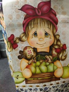 Painting Words, Tole Painting, Fabric Painting, Decoupage, Paper Piecing Patterns, Country Crafts, Easy Paintings, Doll Face, Line Drawing