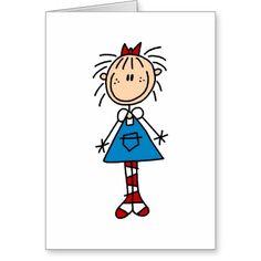Stick Figure Annie Card