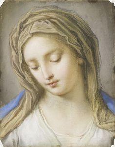 ♛ La Virgen, 1714, by Benedetto Luti (1666-1774)