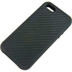 Dual Layer Protector Case for Apple #iPhone 5, Black Carbon Fiber Weave $14.99 From #DayDeal