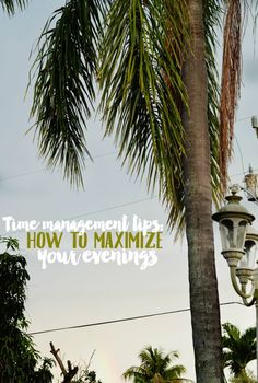 Try these time management tips to maximize your time in the evenings. If you work full time and are trying to start your blog business, these tips can help!