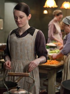 It's interesting that Daisy is still wearing her wedding ring from William.  I find it rather touching.  Downton Abbey