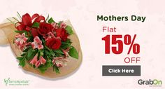 FernsNPetals Mothers Day Sale: Get Flat 15% on all orders. Grab this Now and Gift your Mom the best one! Hurry!  ‪#‎FernsNPetalsCoupons‬ ‪#‎MothersDayOffers‬ ‪#‎GrabOn‬