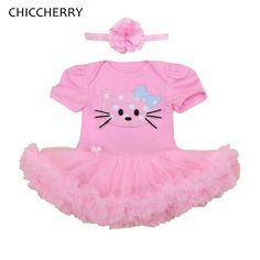 >> Click to Buy << Hello Kitty Pink Lace Tutu Dresses For Girls Party Clothes Wedding Dress Vestido Bebe Jurkjes Baby Girl Dress Infant Clothing #Affiliate