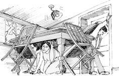 Δραστηριότητες, παιδαγωγικό και εποπτικό υλικό για το Νηπιαγωγείο: Μαθαίνοντας για τους Σεισμούς στο Νηπιαγωγείο: Παρουσίαση 16 Διαφανειών για την αντιμετώπιση του σεισμού Autumn Activities, Teaching Ideas, Safety, School, Security Guard, Schools