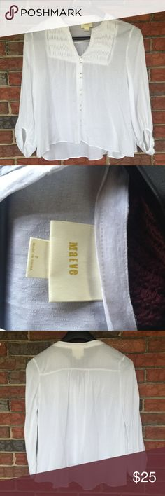 Anthropologie Maeve Blouse No signs of stains rips or flaws. Excellent condition. Maeve Tops Blouses