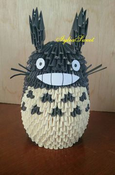 3D Origami Totoro From Ghibli Movie