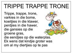 Afrikaans Is Maklik Preschool Poems, Kids Poems, Preschool Worksheets, Grade R Worksheets, Free Printable Alphabet Worksheets, Quotes Dream, Life Quotes Love, Robert Kiyosaki, Napoleon Hill