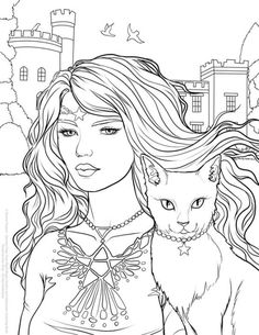 FREE coloring page from my new Night Magic – Gothic and Halloween Coloring Book. Please feel free […] Make your world more colorful with free printable coloring pages from italks. Our free coloring pages for adults and kids. Free Halloween Coloring Pages, Witch Coloring Pages, Cat Coloring Page, Printable Adult Coloring Pages, Coloring Pages For Girls, Coloring Pages To Print, Free Coloring Pages, Coloring Sheets, Coloring Books